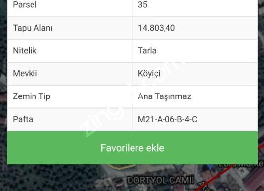 14803 square meters Olive Grove For Sale in Kuyucak, Aydın - Kat Planı