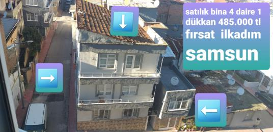 BİNA KOMPLE SATILIK  MERKEZDE ANA YOL ÜZERİNDE İLKADIM SAMSUN - Sokak Cadde Görünümü