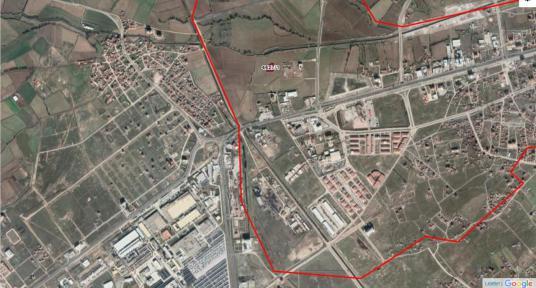 AKSARAY -MERKEZ /TACİN MAHALLESİNDE SATILIK HİSSELİ 320m2 ARSA - Harita