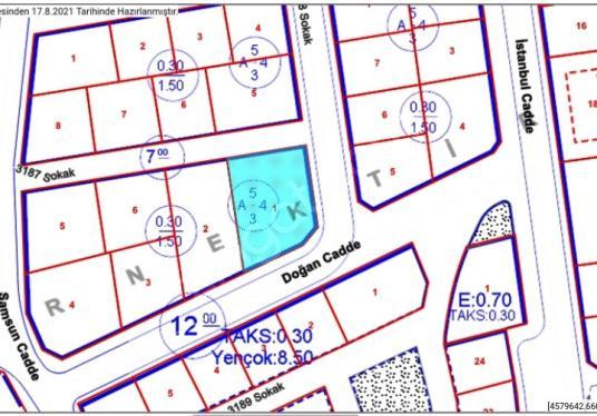 Samyaptan Atakumda 638 m2 Deniz Manzaralı Satılık Arsa - Kat Planı