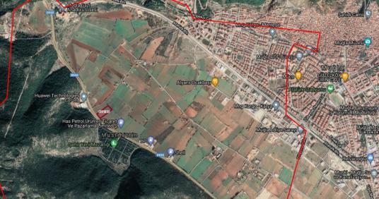 1 square meters Field For Rent in Menteşe, Muğla - Harita