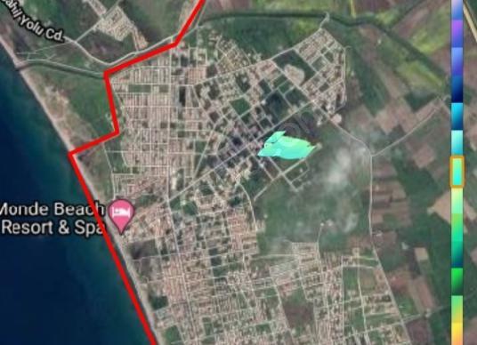 Dikili İsmetpaşa'da Satılık 300m3 arsa - Harita