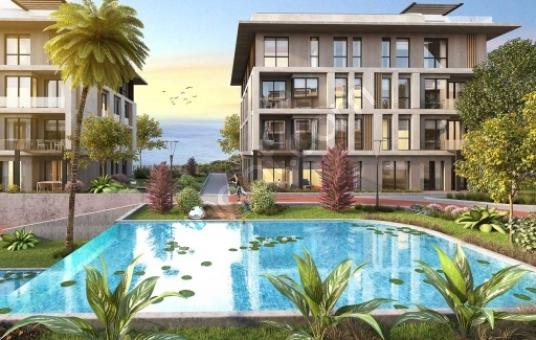 beylikdüzü  marina 2+1 full sea view شقة للبيع ما إطلالة بحرية - Yüzme Havuzu