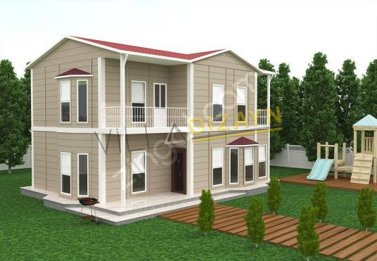 villa dizayn'dan 3+1 155 m2 dubleks prefabrik ev 0538 527 9547 - Dış Cephe
