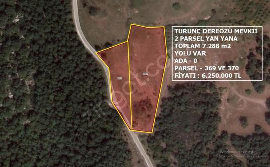 Marmaris Turunç Dereözü Mevkiinde Yola Cephe 7.288 m2 Tarla - Harita