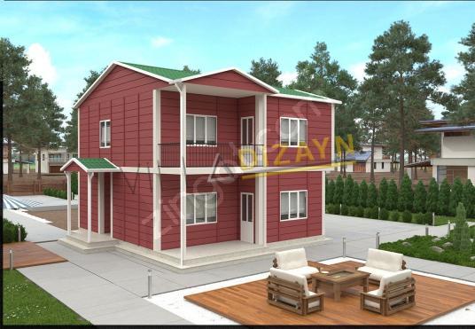 154 square meters 4+1 bedrooms Prefabricated House For Sale in Elmalı, Antalya - Dış Cephe