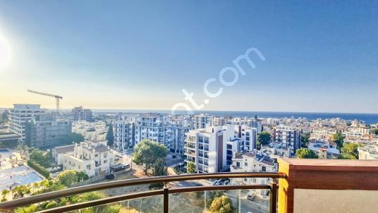 KKTC Girnede Deniz Manzaralı Eşyalı Kiralık 3+1 Penthouse - Balkon - Teras