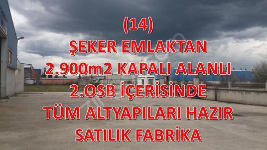14-ŞEKER EMLAKTAN 2.900m2 KAPALI ALANLI SATILIK FABRİKA - Logo