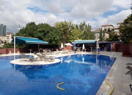 Ulus çamlıtepe sitesinde deniz manzaralı kiralık 4+1 daire - Yüzme Havuzu